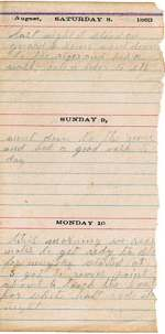 Diary entry Dated 08/08/63
