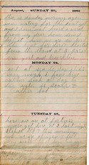 Diary entry Dated 08/23/63