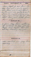 Diary entry Dated 08/29/63