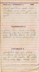 Diary entry Dated 09/01/63