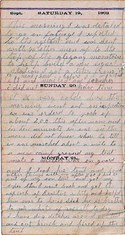 Diary entry Dated 09/19/63