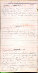 Diary entry Dated 01/10/64
