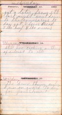 Diary entry Dated 01/13/64