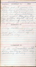 Diary entry Dated 02/15/64