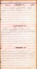Diary entry Dated 03/20/64